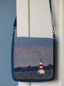 Harris Tweed handbag: Guiding light