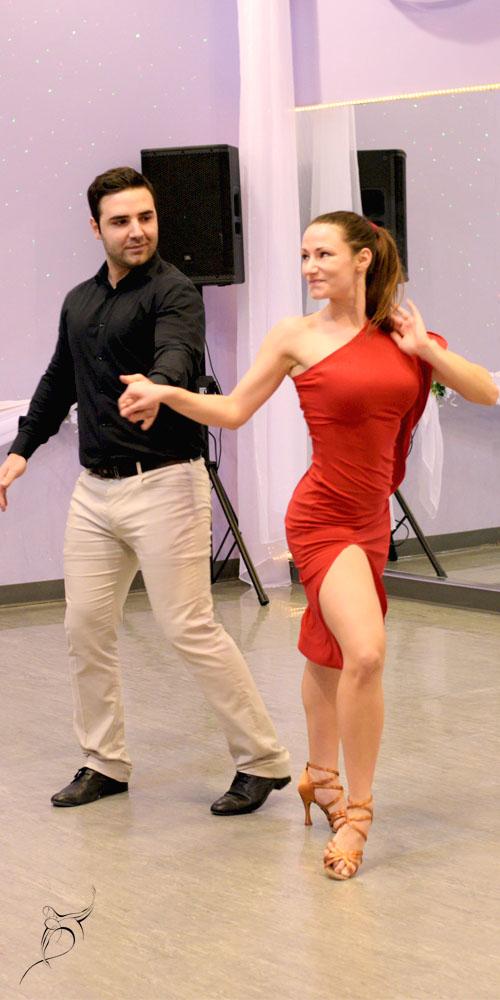 Partners in dancing, beautiful couple