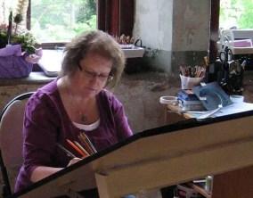 CJ Shelton in her Studio