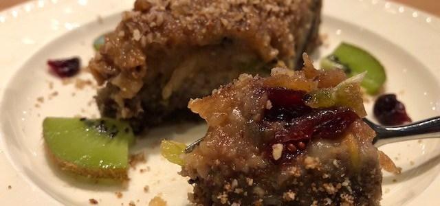 Birnen-Kiwi Kuchen mit Cranberrys und Hanfsamen – Rezept
