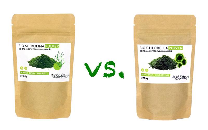 Spirulina vs. Chlorella - Was ist der Unterschied?