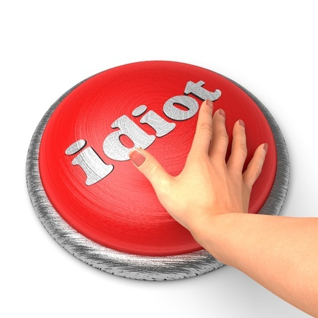 idiot button_11364657_s