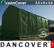 Boat shelter 3.5x8x3x3.8 m, Green