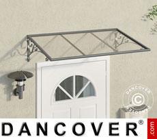 Door canopy 0.88x1.36 m, Silver