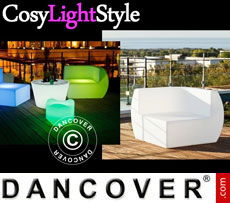 Event furniture: LED Sofa, Corner, Chill, 88x88x68 cm