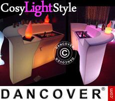 Event furniture: LED Bar, Corner Table