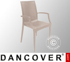 Chair with armrests, Rattan Bistrot, Jute, 6 pcs.