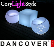 Event furniture: LED furniture set, 1 table + 2 chairs
