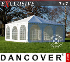 Pagoda Marquee Exclusive 7x7 m PVC, White