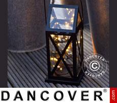 Lantern with LED, ASKE, Black