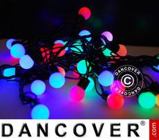 Fairy lights, 10 m, 100 LED DIA 18 mm, multicoloured
