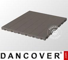 Plastic flooring Basic, Piastrella, Grey, 1.44 m²