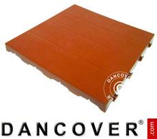 Plastic flooring Basic, Piastrella, Terracotta red, 10.08 m²