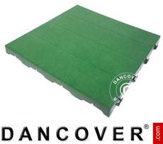 Plastic flooring Basic, Piastrella, Green, 40.32 m²