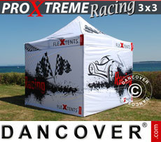 Racing tents - Pop up gazebo FleXtents PRO Xtreme Racing 3x3 m, Limited edition