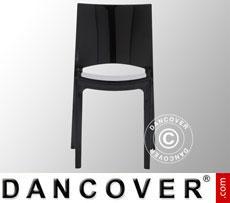 Chair, Sunshine, Glossy black, 6 pcs.