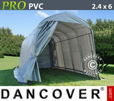 Portable Garage PRO 2.4x6x2.4 m PVC, Grey