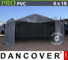 Storage shelter PRO 6x18x3.7 m PVC Grey