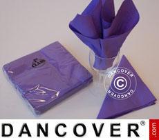 Napkins, 3 layers 80 pcs. Purple