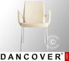 Chair with armrests, Boulevard, Ivory, 6 pcs.