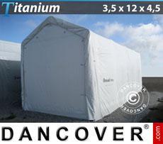 Boat Shelter Titanium 3.5x12x3.5x4.5 m