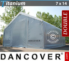 Storage shelter 7x14x2.5x4.2 Titanium