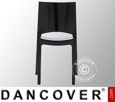 Chair, Sunshine, Glossy black, 18 pcs.