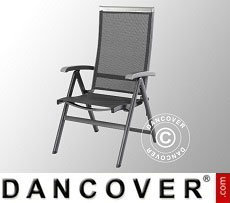 Folding chair with armrests, Forios, 61x69.5x110cm, Iron Grey