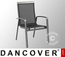 Chair with armrests, Forios, 63.5x69x99.5cm, 4 pcs., Iron Grey