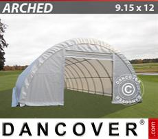 Storage shelter 9.15x12x4.5 m PVC, White