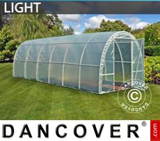 Polytunnel Greenhouse Light 2,2x6x1,9 m, Transparent