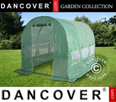 Polytunnel Greenhouse 2x4.5x2 m, Green