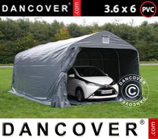 Portable Garage PRO 3.6x6x2.68 m PVC, with ground cover, Grey