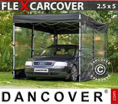 Folding garage FleXcarcover, 2,5x5m, Black