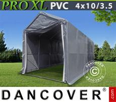 Storage shelter PRO 4x10x3,5x4,59 m, PVC, Grey