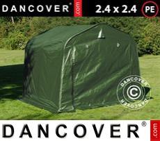 Storage tent PRO 2.4x2.4x2 m PE, Green