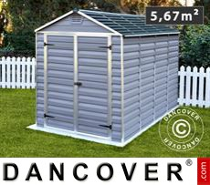 Polycarbonate Garden shed, SkyLight, 1.86x3.06x2.17 m, Anthracite