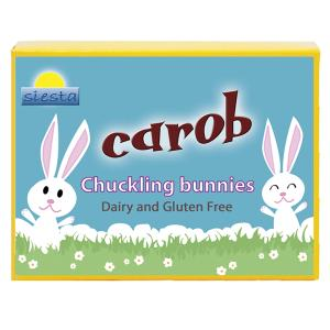 <b>Carob</b> solid Chuckle <b>Bunny</b> Shapes 120g