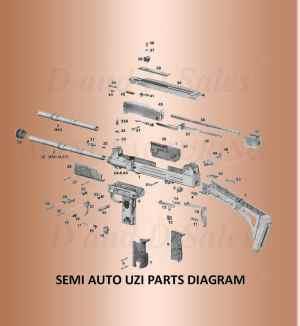 D and D Sales  Post ban assembly Uzi Parts