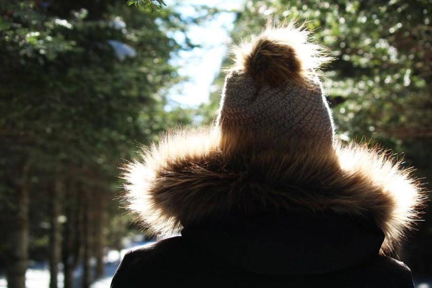 faux fur trimmed jacket