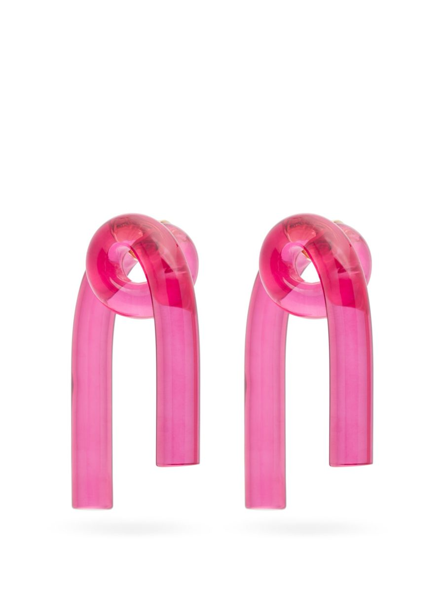 Cheerful earrings for virtual happy hour