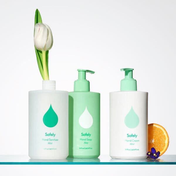 The new Safely brand of eco-friendly plant-based home cleaning products
