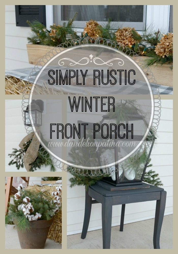Rustic Winter Front Porch   Dandelion Patina Rustic Winter Front Porch