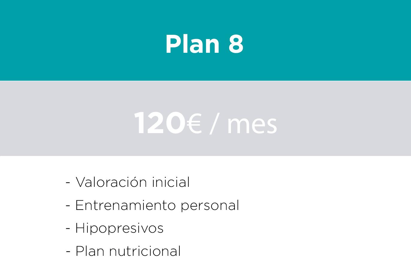 Precio plan de entrenamiento personal y nutricion