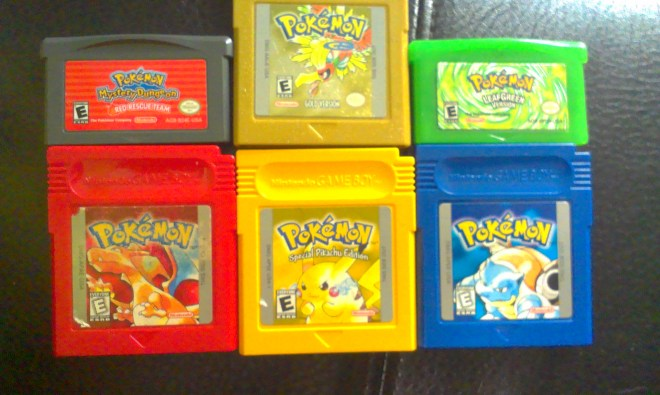 My Pokemon Gameboy collection