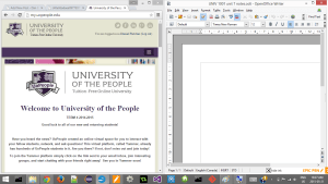 UoPeople tutorial screenshot