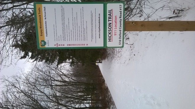 Southern entrance to the Hickson Trail