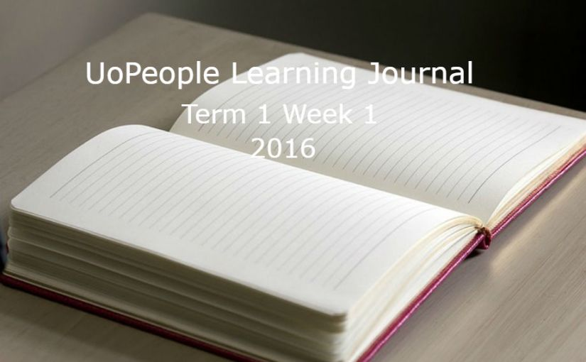 UoPeople Learning Journal: Term 1 Week 1 2016