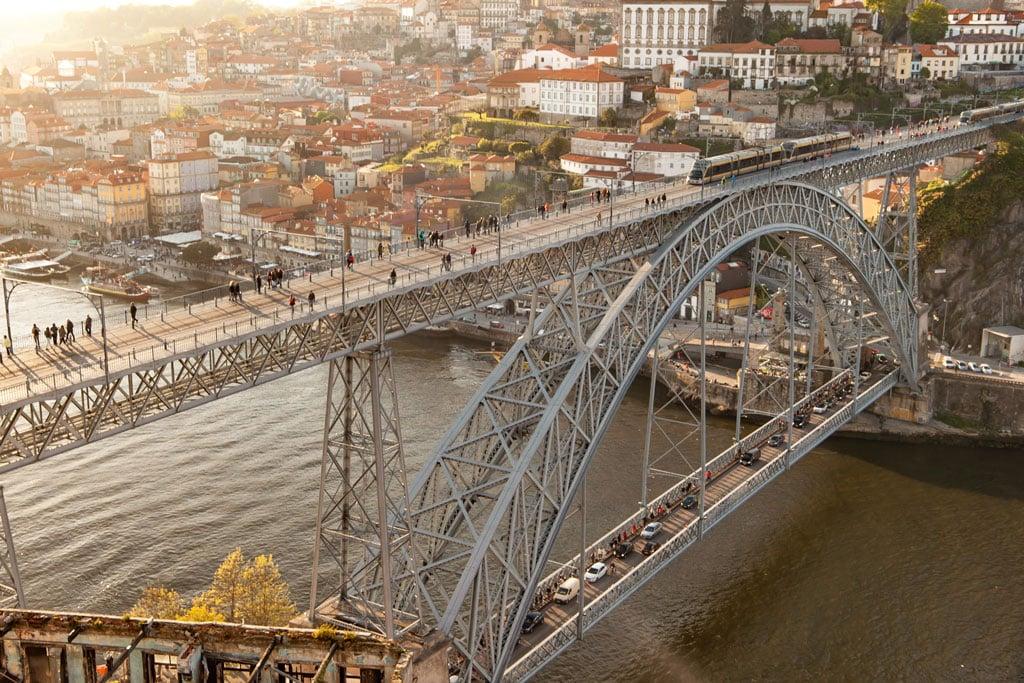 Luís I Bridge Porto at sunset