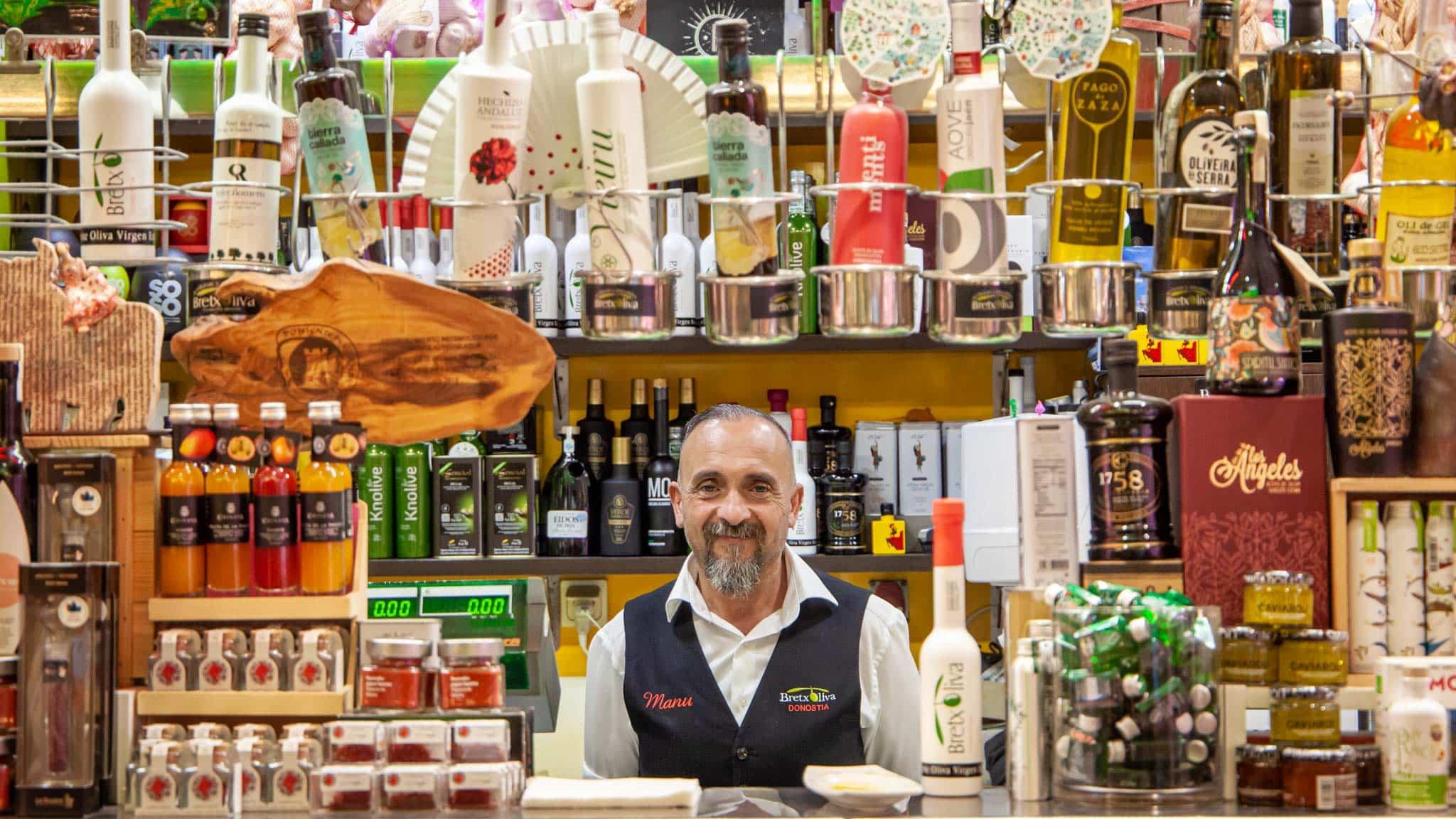 A shopkeeper in San Sebastian market